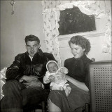 Billy, Janet (infant) and Lois Heffner Laws