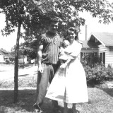 Billy, Joyce (infant) and Lois Heffner Laws