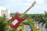 Giant outdoor guitar