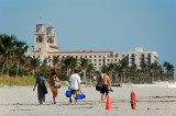 Vacationers in Palm Beach, Florida