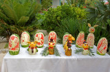 Artistic carving of fruits