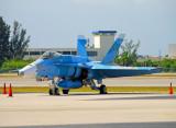 US Navy F/A-18C in color scheme of Russian Su-27