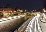 The Seine at night, Paris