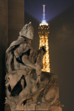 Alexander III bridge detail and Tour Eiffel