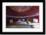Inside a Yurt of Kazakh People