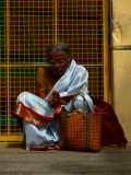 Weary temple visitor