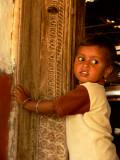 Kid in doorway