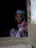 Old woman in tribal village