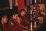 Monks during service