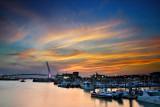 Dan-Shuei Fishermen's Wharf at Sunset