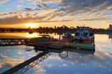 Sunset Scenery at Dadaocheng Dock