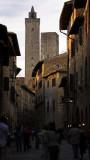 evening in San Gimignano