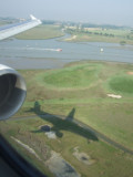 Landing at Marco Polo Airport in Venice, Italy