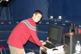 Jacob Bowdoin at the controls