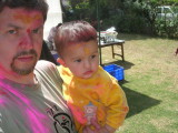 Rahil and Dad's first Holi