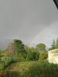 Double rainbow outside our room