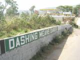 Dashing means danger!