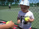 First time on a tennis court