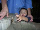 First time at a water fountain