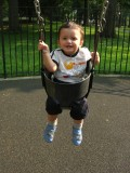 First time on a swing