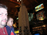 At the giant Lego model at the Times Square Toys R Us