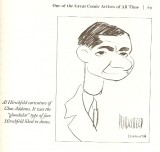 A caricature of Addams by Al Hirschfeld done during WWII