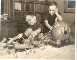 Tim with his brother Richard.  This photo was published in the Milwaukee Sentinel in the early 1940s.