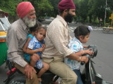 (Sikhs are exempt from the helmet laws)