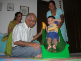 Rahil enjoying his new slide