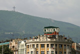 Macedonia Square and Mt Vodno