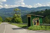 Bus stop near Milanovo