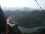 in a cable car