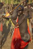 Surma warrior in red