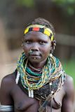 Nyangatom woman (tribe info in caption)