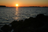 Sunset Over the Jetties