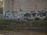 Teens Under the Hiway 77 Bridge
