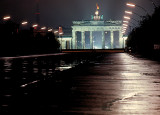 The Berlin Wall and the Brandenburg Gate