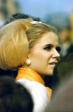 Sixties girl in the market