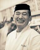 Sushi chef at Tsukiji fish market