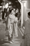 Maiko on Pontocho street in Kyoto