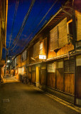 Gion street at night