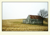 Barn Past Red Mound