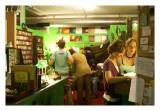 browsing the stacks in Greenman Music