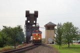 BNSF crosses the lift bridge over the St. Croix River.