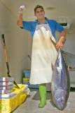 Fish dealer with Tuna