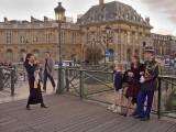 Walk from 30-32 Boulevard Poissonniere  to 62 Rue Mazarine. 19:57: Graduation Photo at Pont François-Mitterrand