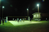 Night volleyball game