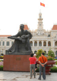 Ho Chi Minh statue in front of the City Hall, Saigon