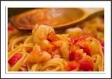 Shrimp Fra Diavolo over Linguine
