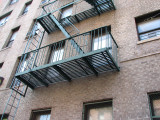My fire escape on Walton. The window on the rightside of the Bronx Terrace was ours. COPYRIGHT PAT MORGAN 2007
